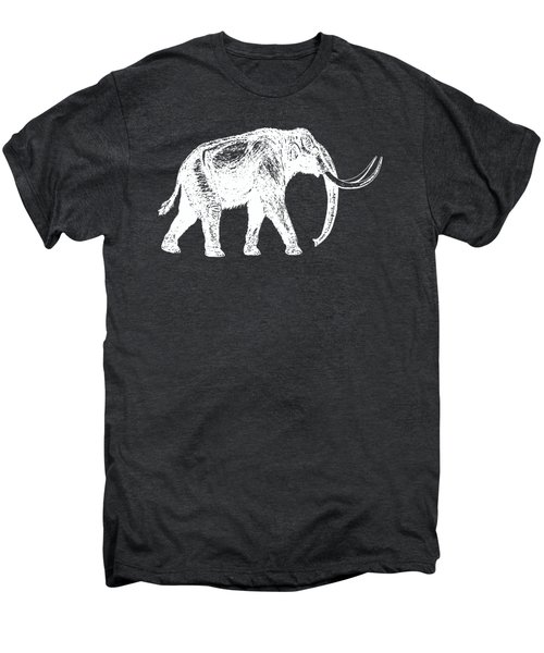 Mammoth White Ink Tee Men's Premium T-Shirt by Edward Fielding
