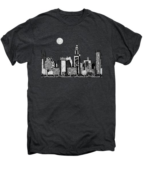 Manhattan At Night New York Swings Men's Premium T-Shirt by Cecely Bloom