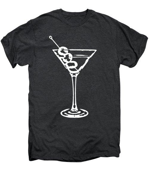 Martini Glass Tee White Men's Premium T-Shirt by Edward Fielding
