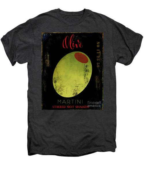 Martini Olive Men's Premium T-Shirt by Mindy Sommers