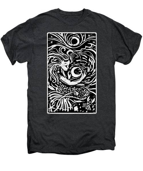 Mermaid Moon Men's Premium T-Shirt by Katherine Nutt