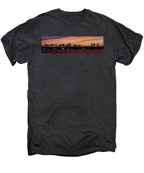 Miami Sunset Panorama Men's Premium T-Shirt by Gary Dean Mercer Clark