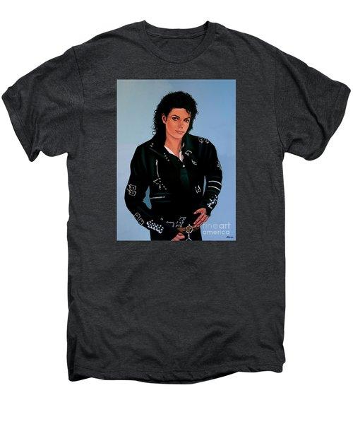 Michael Jackson Bad Men's Premium T-Shirt by Paul Meijering