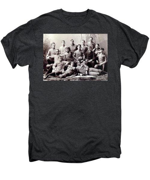 Michigan Wolverine Football Heritage 1890 Men's Premium T-Shirt by Daniel Hagerman