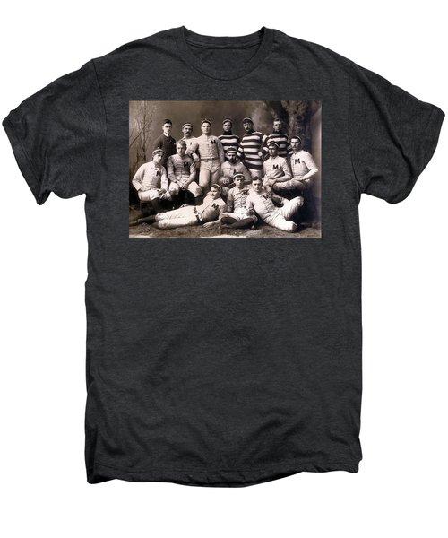 Michigan Wolverines Football Heritage 1888 Men's Premium T-Shirt by Daniel Hagerman