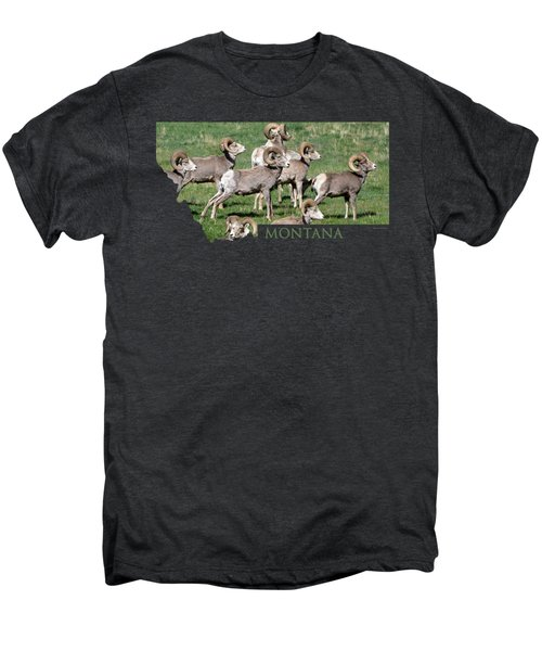 Montana -bighorn Rams Men's Premium T-Shirt by Whispering Peaks Photography