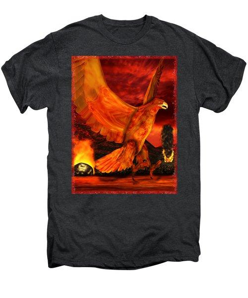 Myth Series 3 Phoenix Fire Men's Premium T-Shirt by Sharon and Renee Lozen