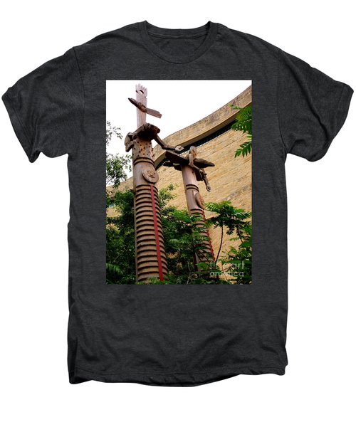 National Museum Of The American Indian 3 Men's Premium T-Shirt by Randall Weidner