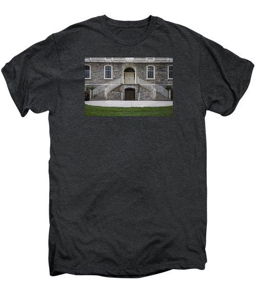Old Main Penn State Stairs  Men's Premium T-Shirt by John McGraw