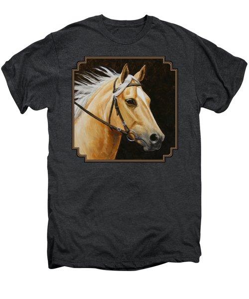 Palomino Horse Portrait Men's Premium T-Shirt by Crista Forest