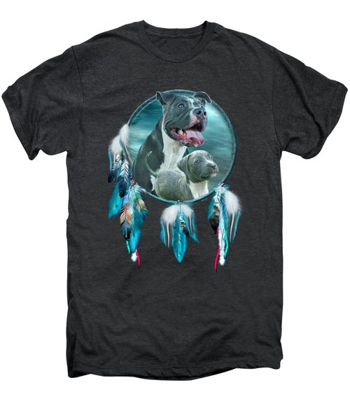Pit Bulls - Rez Dog Men's Premium T-Shirt by Carol Cavalaris