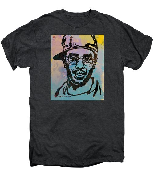 Puff Daddy Pop Stylised Art Poster Men's Premium T-Shirt by Kim Wang