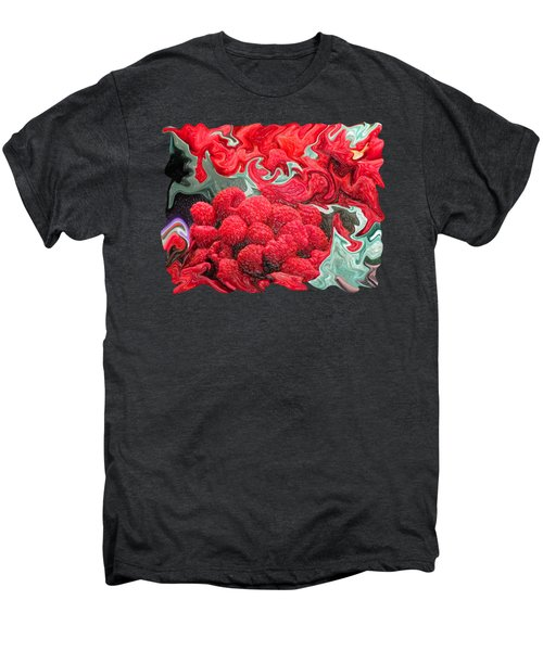 Raspberries Men's Premium T-Shirt by Kathy Moll