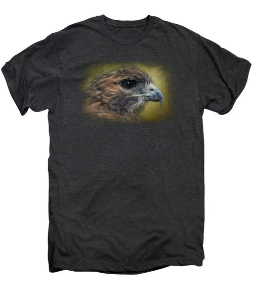 Red Tailed Hawk At Reelfoot Men's Premium T-Shirt by Jai Johnson