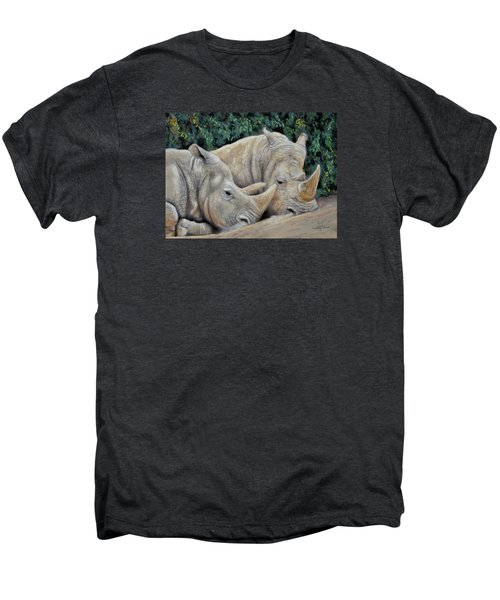 Rhinos Men's Premium T-Shirt by Sam Davis Johnson