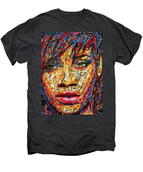 Rihanna Men's Premium T-Shirt by Angie Wright