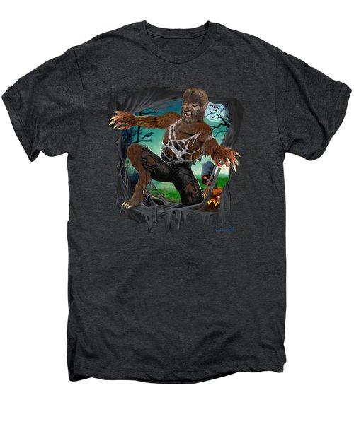 Rip Roaring Werewolf Men's Premium T-Shirt by Glenn Holbrook