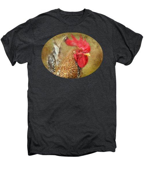 Rooster Profile Men's Premium T-Shirt by Anita Faye