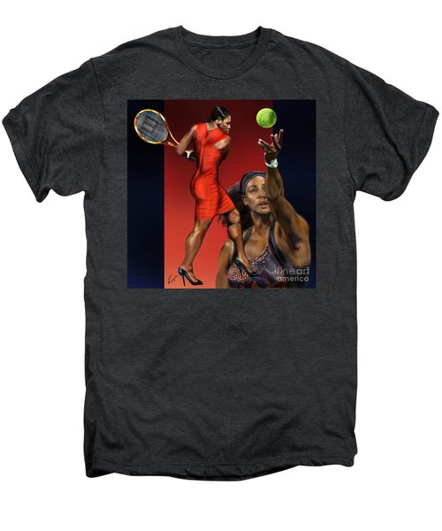 Sensuality Under Extreme Power - Serena The Shape Of Things To Come Men's Premium T-Shirt by Reggie Duffie