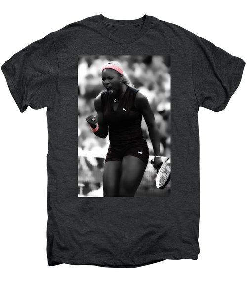 Serena Williams On Fire Men's Premium T-Shirt by Brian Reaves