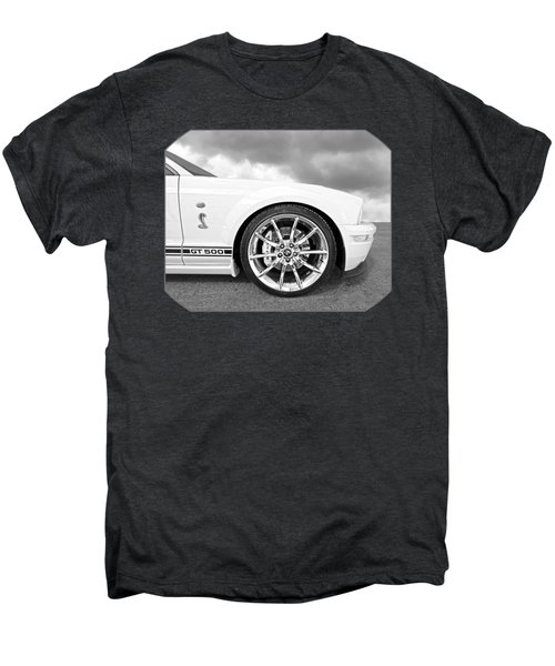 Shelby Gt500 Wheel Black And White Men's Premium T-Shirt by Gill Billington
