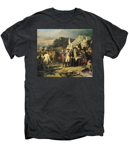 Siege Of Yorktown Men's Premium T-Shirt by Louis Charles Auguste  Couder