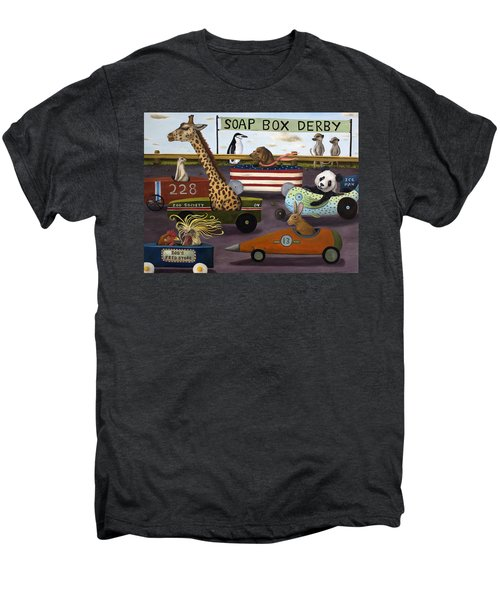 Soap Box Derby Men's Premium T-Shirt by Leah Saulnier The Painting Maniac