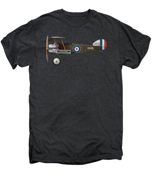 Sopwith Camel - B3889 - Side Profile View Men's Premium T-Shirt by Ed Jackson