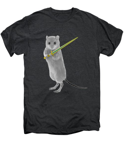 Squeaky, Warrior Mouse Men's Premium T-Shirt by Susan Eileen Evans
