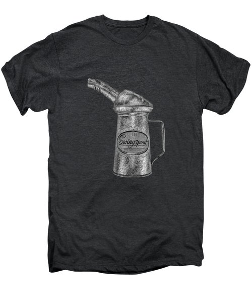 Swingspout Oil Can Bw Men's Premium T-Shirt by YoPedro