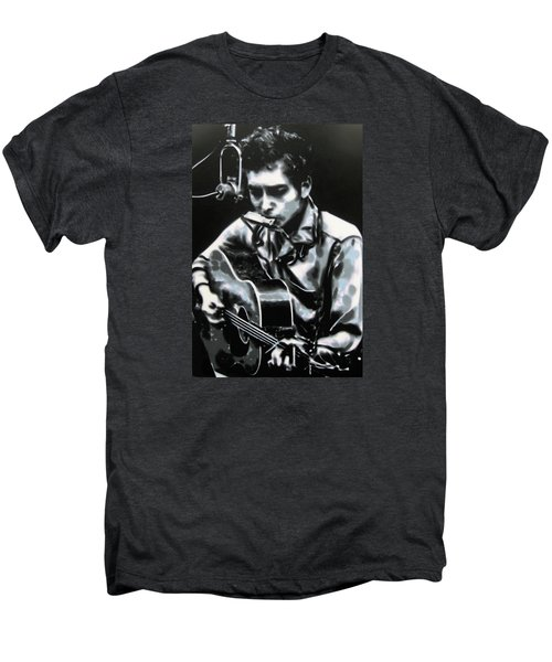 The Answer My Friend Is Blowin In The Wind Men's Premium T-Shirt by Luis Ludzska