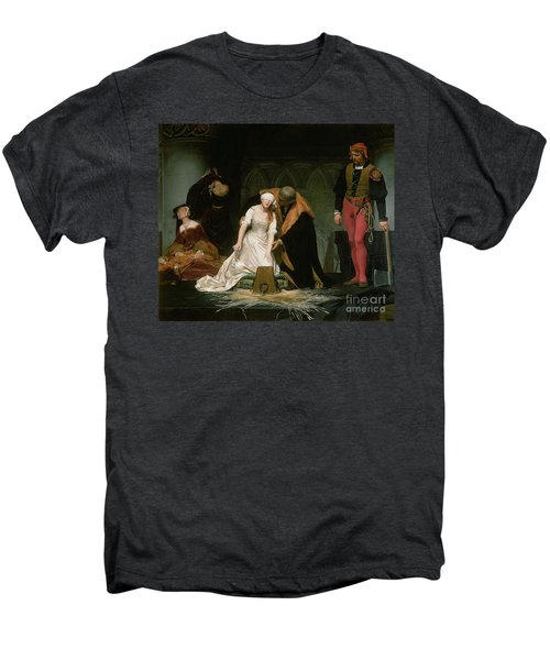 The Execution Of Lady Jane Grey Men's Premium T-Shirt by Hippolyte Delaroche