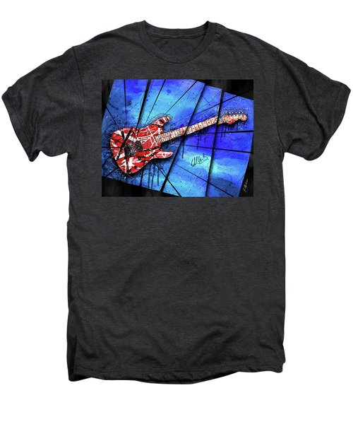 The Frankenstrat On Blue I Men's Premium T-Shirt by Gary Bodnar
