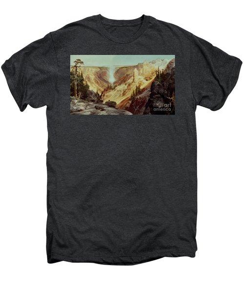 The Grand Canyon Of The Yellowstone Men's Premium T-Shirt by Thomas Moran
