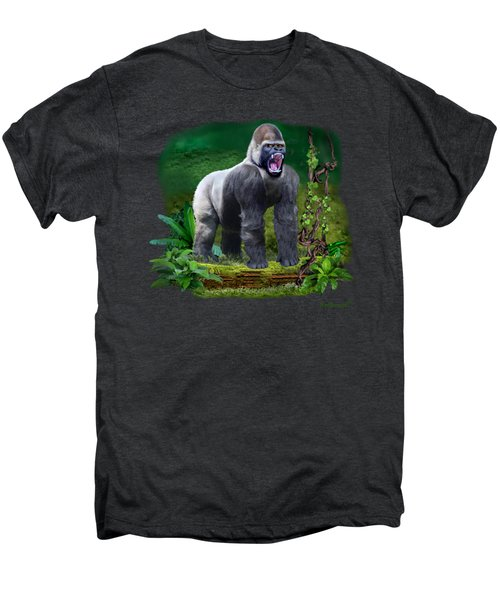 The Guardian Of The Rain Forest Men's Premium T-Shirt by Glenn Holbrook
