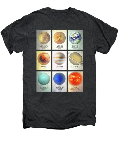 The Planets Men's Premium T-Shirt by Mark Rogan