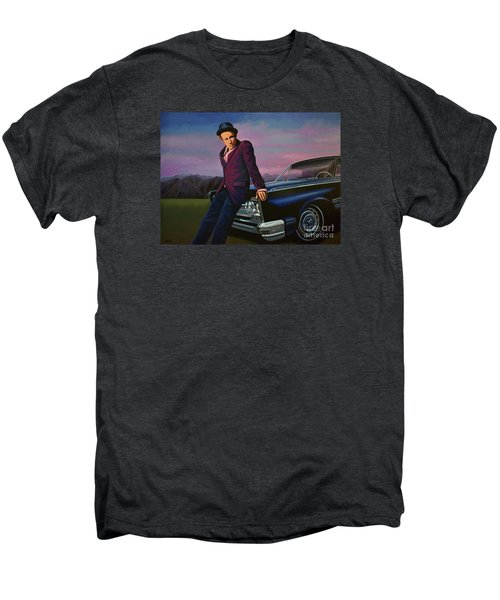 Tom Waits Men's Premium T-Shirt by Paul Meijering
