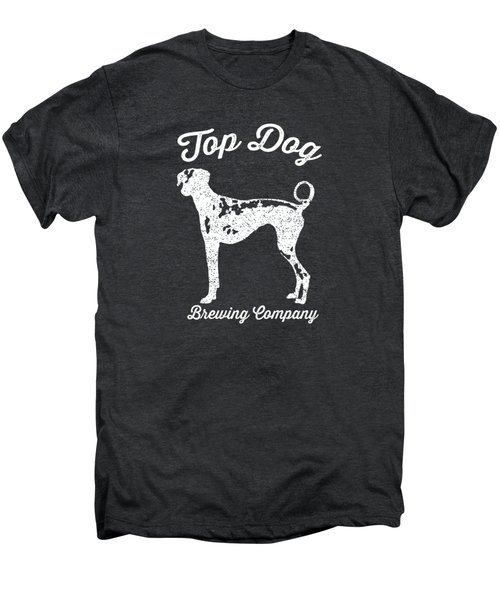 Top Dog Brewing Company Tee White Ink Men's Premium T-Shirt by Edward Fielding