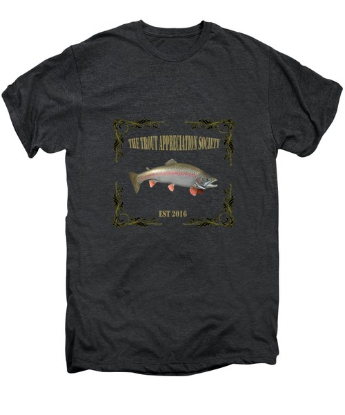 Trout Appreciation Society  Men's Premium T-Shirt by Rob Hawkins