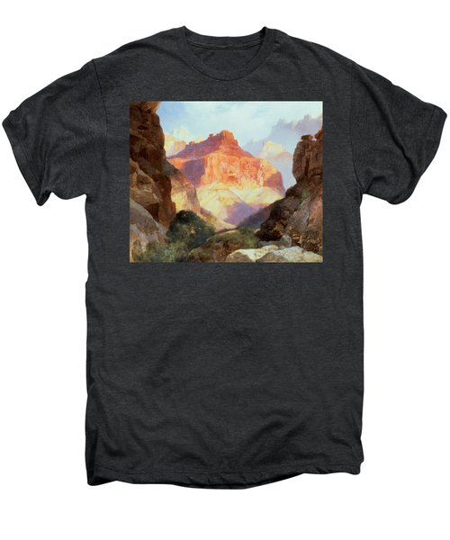 Under The Red Wall Men's Premium T-Shirt by Thomas Moran