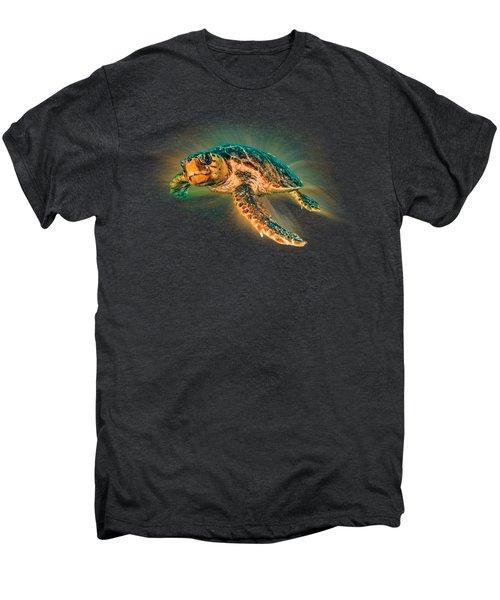 Undersea Turtle Men's Premium T-Shirt by Debra and Dave Vanderlaan
