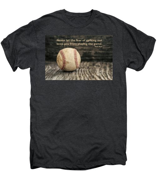 Vintage Baseball Babe Ruth Quote Men's Premium T-Shirt by Terry DeLuco