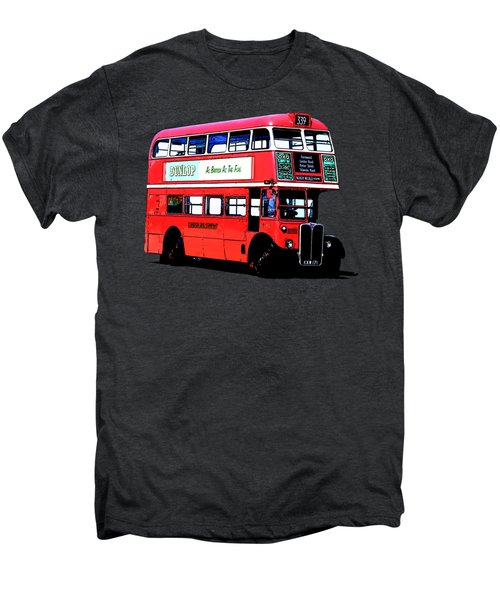 Vintage London Bus Tee Men's Premium T-Shirt by Edward Fielding