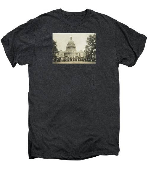 Vintage Motorcycle Police - Washington Dc  Men's Premium T-Shirt by War Is Hell Store