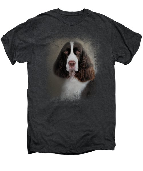 Waiting Patiently - English Springer Spaniel Men's Premium T-Shirt by Jai Johnson