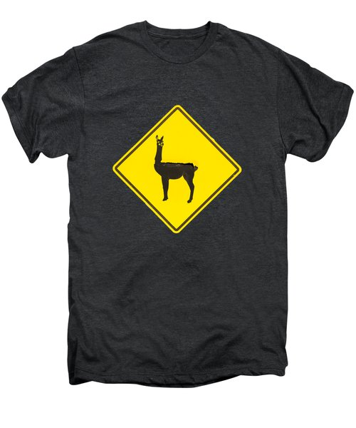 Warning Guanacos Men's Premium T-Shirt by Mirko Chianucci