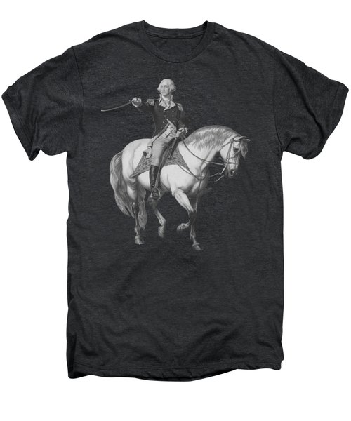 Washington Receiving A Salute At Trenton Men's Premium T-Shirt by War Is Hell Store