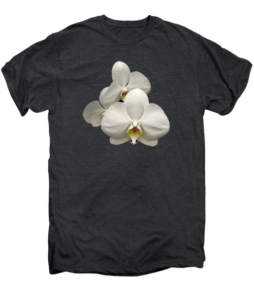 White Orchids Men's Premium T-Shirt by Rose Santuci-Sofranko