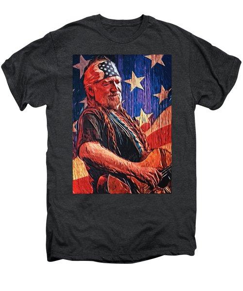 Willie Nelson Men's Premium T-Shirt by Taylan Apukovska