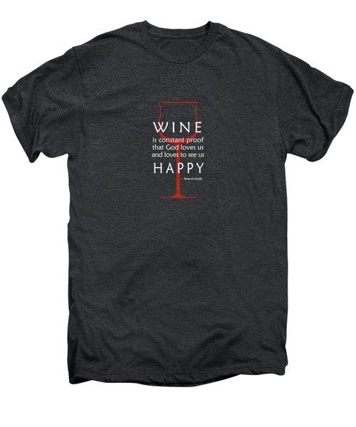 Wine Glasses 2 Men's Premium T-Shirt by Mark Rogan